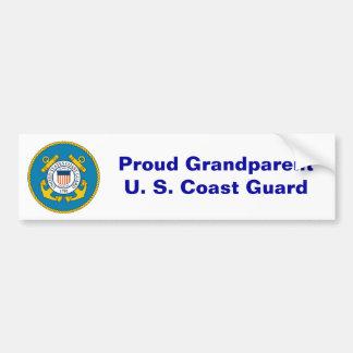USCGSealcolor, GrandparentU orgulloso. S. Guardaco Pegatina Para Auto