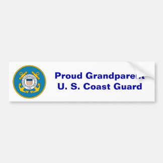 USCGSealcolor, Proud GrandparentU. S. Coast Guard Bumper Sticker