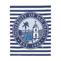 USD | Est. 1949 - Stripe Pattern Fleece Blanket