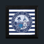 "USD | Est. 1949 - Stripe Pattern Keepsake Box<br><div class=""desc"">Check out these new University of San Diego designs! Get all the latest U of San Diego gear here. All of these Zazzle products are customizable with your class year,  name,  and club. These products make perfect gifts for the USD student,  alumni,  family,  friend,  or fan in your life.</div>"
