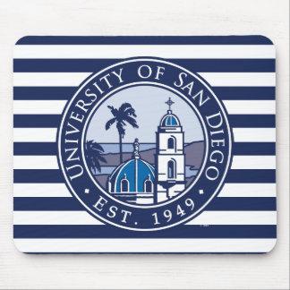 USD | Est. 1949 - Stripe Pattern Mouse Pad