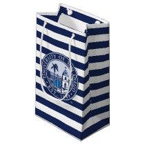 USD | Est. 1949 - Stripe Pattern Small Gift Bag