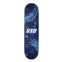USD Tropical Floral Pattern Skateboard