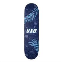USD Tropical Floral Pattern Skateboard