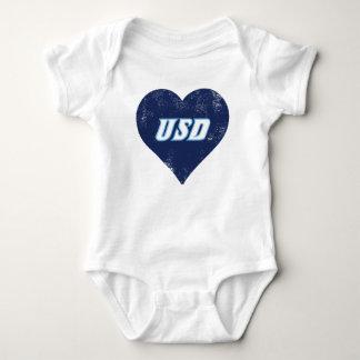 USD Vintage Heart Baby Bodysuit