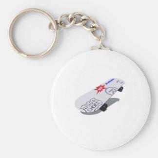 usda basic round button keychain