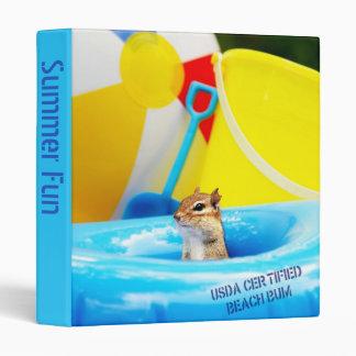 """USDA Certified Beach Bum Chipmunk 1"""" Photo Album Binder"""