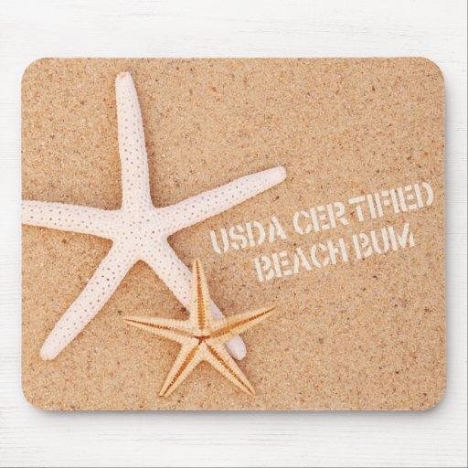 USDA Certified Beach Bum Mouse Pad
