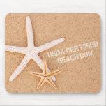 USDA Certified Beach Bum Mouse Pads