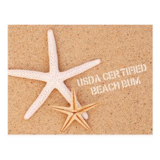 USDA Certified Beach Bum Postcard