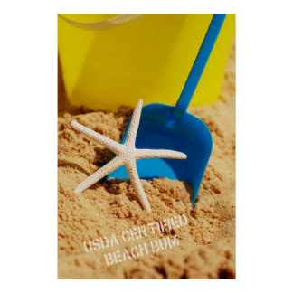 USDA Certified Beach Bum Poster
