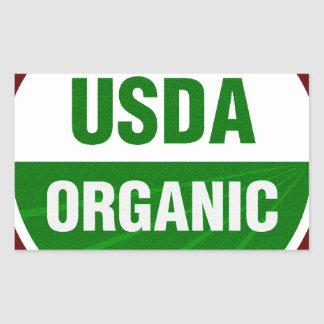 USDA Organic certificate Rectangular Sticker