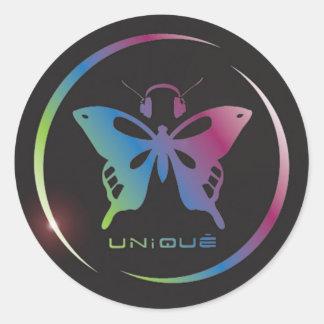 usde_logo_rainbow classic round sticker