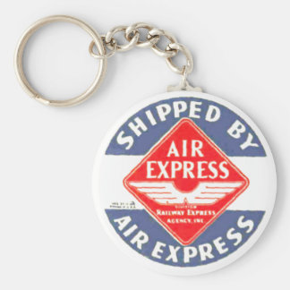 Use Air Express by Railway Express Agency Basic Round Button Keychain