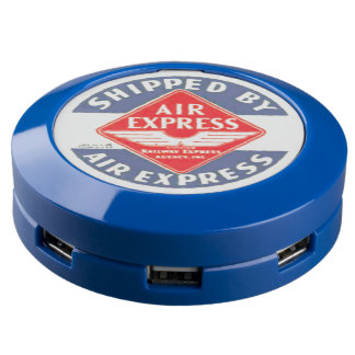 Use Air Express by Railway Express Agency USB Charging Station
