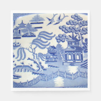 Use Blue Willow Luncheon Napkins & You've Arrived