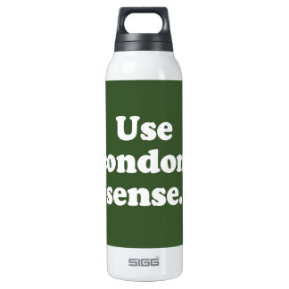 USE CONDOM SENSE 16 OZ INSULATED SIGG THERMOS WATER BOTTLE