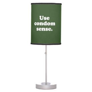 USE CONDOM SENSE DESK LAMP