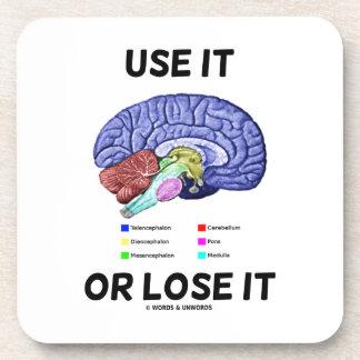 Use It Or Lose It (Anatomical Brain Advice) Coaster