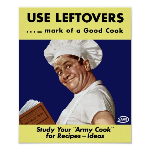 Use Leftovers -- WWII Print
