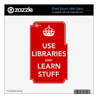 Use Libraries and Learn Stuff iPod Touch 4G Decals