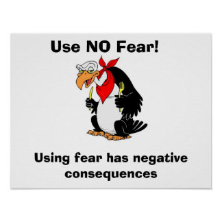 Use NO Fear! Posters