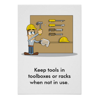 Use of Hand Tools 002 Posters