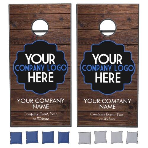 Use Own Business Logo Wood Company Event Party Cornhole Set