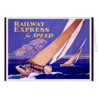 Use Railway Express For Speedy Delivery. Greeting Card