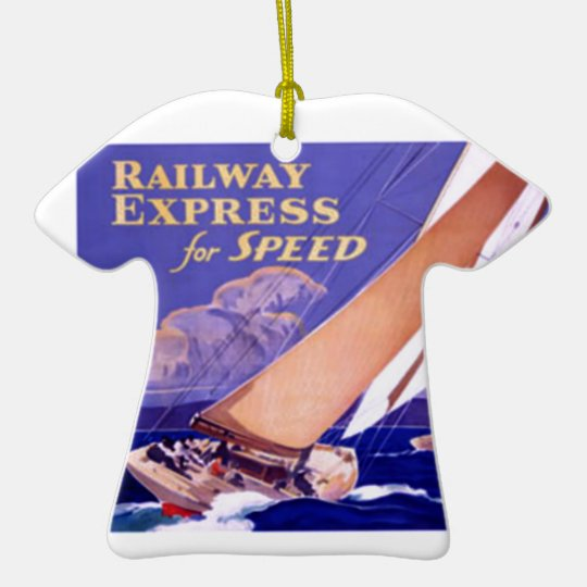 Use Railway Express For Speedy Delivery. Ceramic Ornament