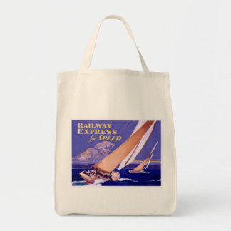 Use Railway Express For Speedy Delivery Grocery Tote Bag