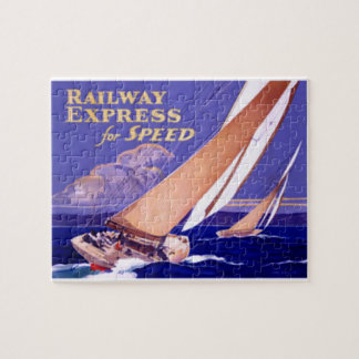 Use Railway Express For Speedy Delivery. Jigsaw Puzzle