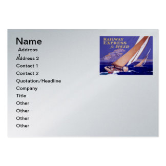 Use Railway Express For Speedy Delivery Large Business Cards (Pack Of 100)
