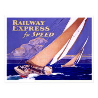 Use Railway Express For Speedy Delivery. Postcard