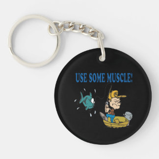 Use Some Muscle Keychain