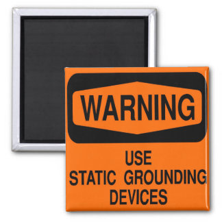 Use static grounding device magnet