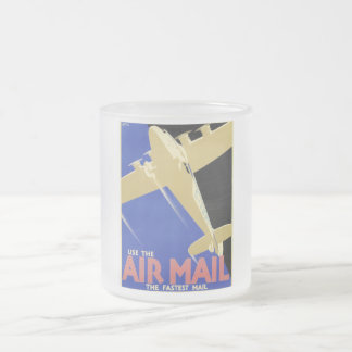 Use the Air Mail, the Fastest Mail Frosted Glass Coffee Mug