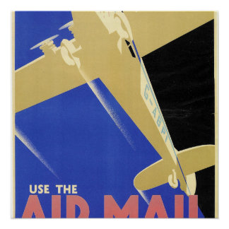 Use the Air Mail, the Fastest Mail Poster