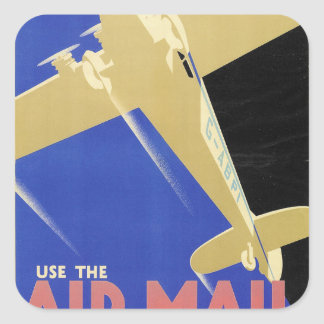 Use the Air Mail, the Fastest Mail Square Sticker