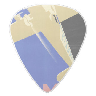 Use the Air Mail, the Fastest Mail White Delrin Guitar Pick