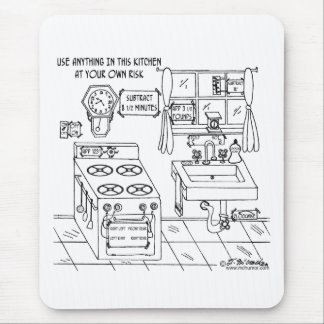 Use This Kitchen At Your Own Risk Mouse Pad