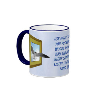 USE WHAT TALENTS YOU POSSESS-MUG RINGER COFFEE MUG