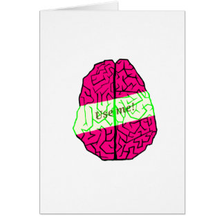 Use your brain! card