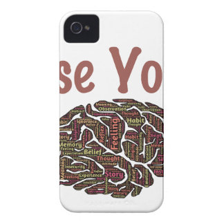 Use Your Brain iPhone 4 Cover