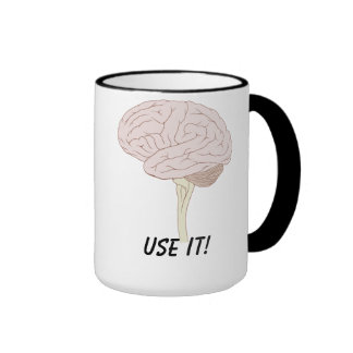Use your brain cup mugs