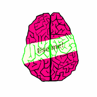 Use your brain! cutout