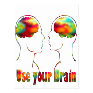 Use your brain - dozens of products with this pic postcard