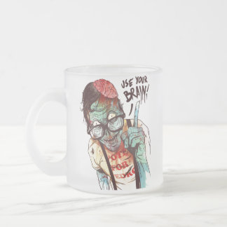 Use your brain glass/mug/cup