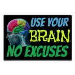 Use Your Brain No Excuses Classroom Poster