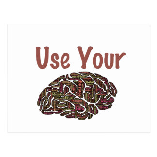 Use Your Brain Postcard